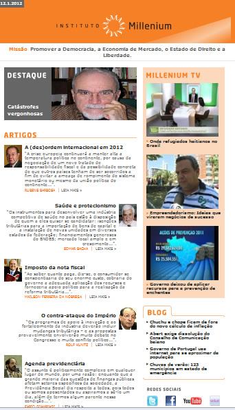 Newsletter 12 janeiro 2012