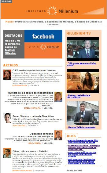 Newsletter 23 fevereiro 2012