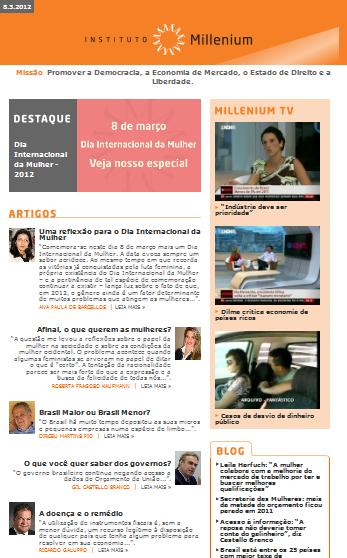 Newsletter 08 março 2012