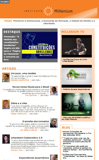 Newsletter 05 abril 2012