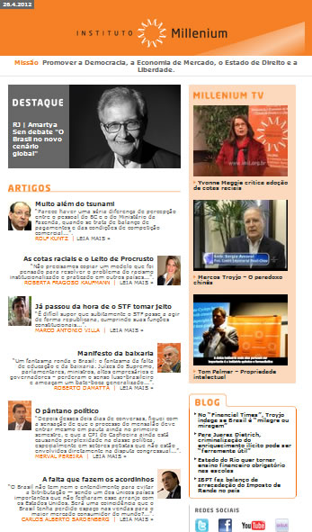 Newsletter 26 abril 2012