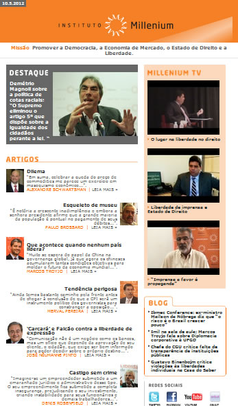 Newsletter 10 maio 2012