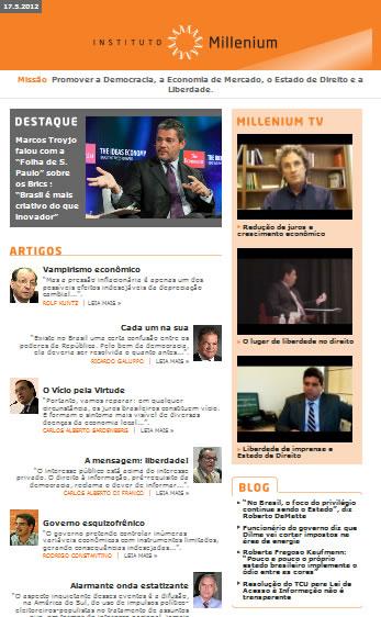 Newsletter 17 maio 2012