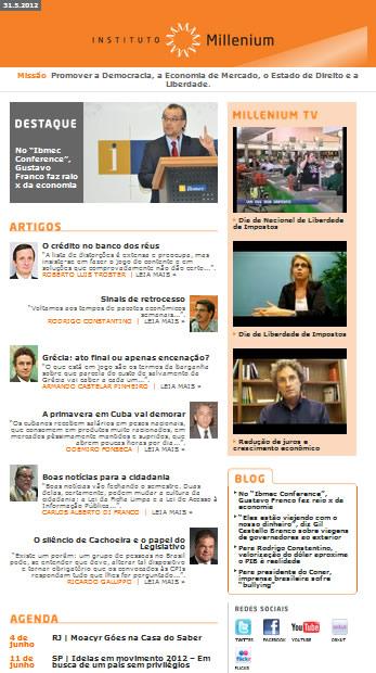 Newsletter 31 maio 2012