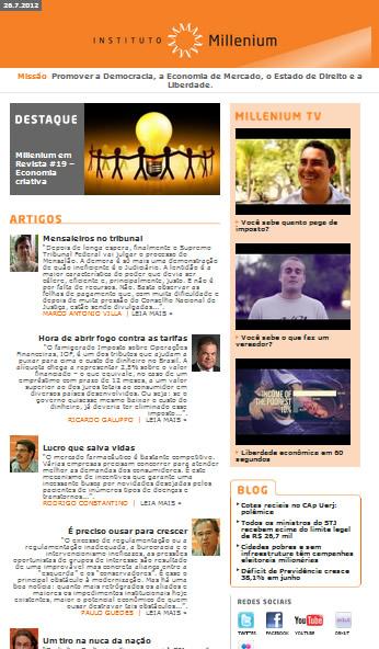 Newsletter 26 Julho 2012