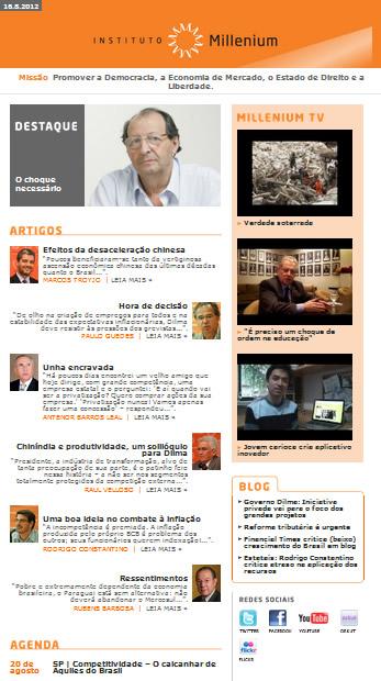 Newsletter de 16 agosto 2012