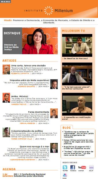 Newsletter de 30 agosto 2012