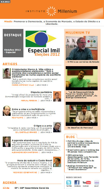 Newsletter 06 setembro 2012