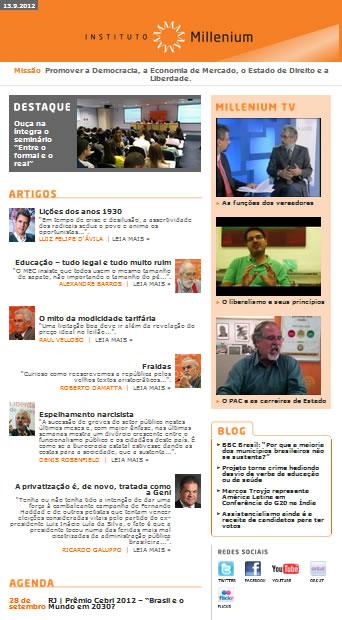 Newsletter de 13 de semtebro 2012