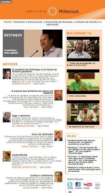 Newsletter 04 outubro 2012