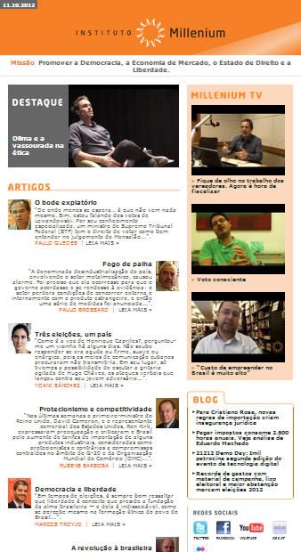 Newsletter de 11 de outubro 2012