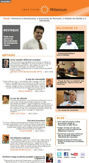 Newsletter 18 outubro 2012