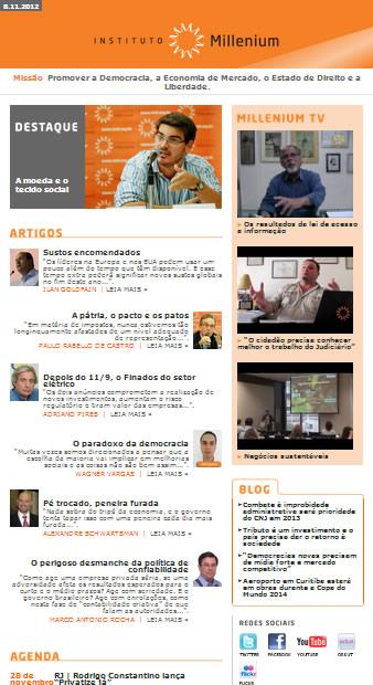 Newsletter de 08 de novembro 2012