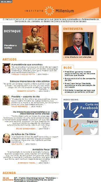 Newsletter de 22 de novembro 2012