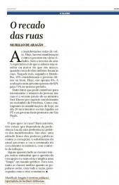 Clipping O Globo Artigo Murillo de Aragão