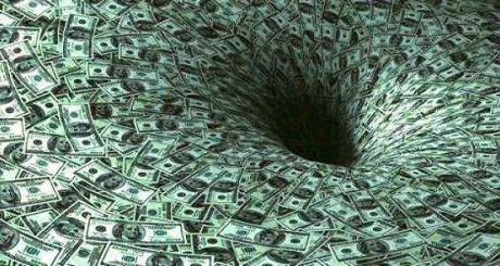 Dinheiro escorrendo pelo ralo