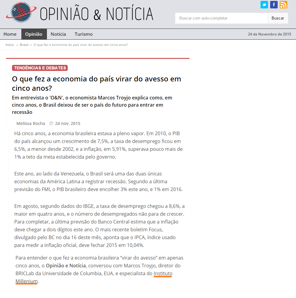 clippping opiniao e noticia