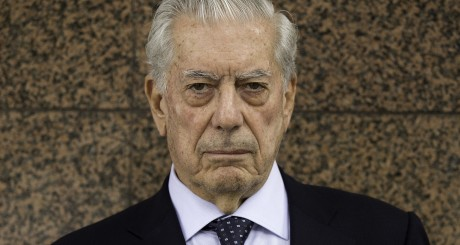 MADRID, SPAIN - JUNE 09:  Nobel prize-winning writer Mario Vargas Llosa poses for a picture prior to attend the 7th edition of the 'Catedra Real Madrid' Project at Santiago Bernabeu Stadium outdoors on June 9, 2015 in Madrid, Spain.  (Photo by Gonzalo Arroyo Moreno/Getty Images)