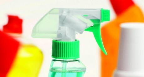Close-up of five cleaning products57283605