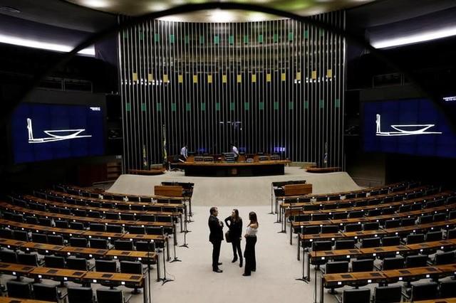 Plenário da Câmara dos Deputados após sessão em Brasília, Brasil 12/4/2017  REUTERS/Ueslei Marcelino